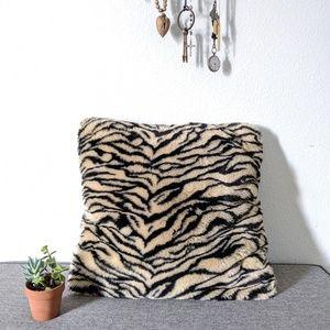 Threshold Large Faux Tiger Fur Throw Pillow